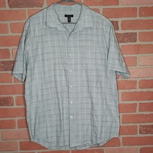 {Van Heusen} Blue, short sleeved, XL, Tall